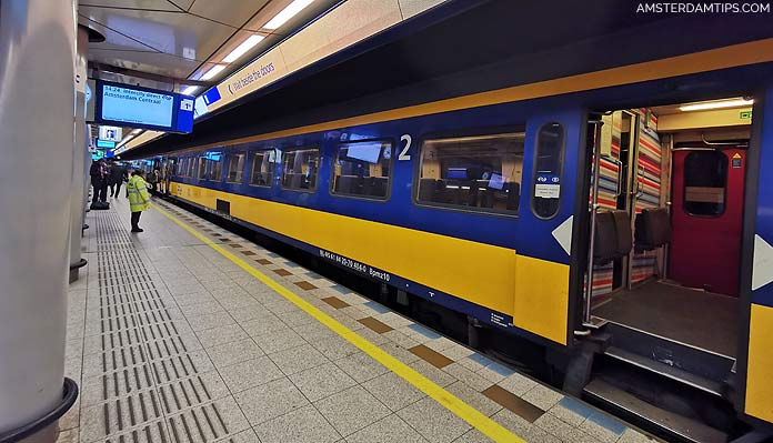 intercity direct train at schiphol airport