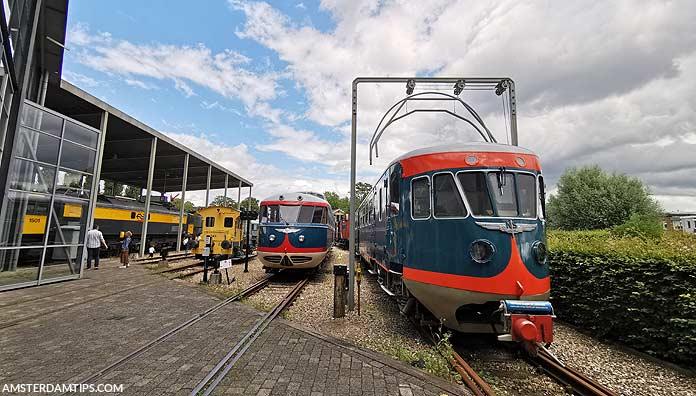 trains at spoorwegmuseum utrecht