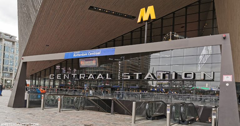 rotterdam centraal metro station