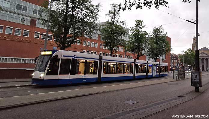 amsterdam tram night