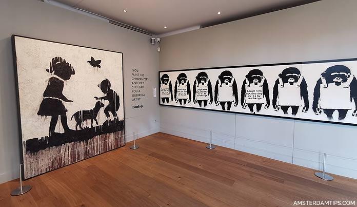 moco museum amsterdam banksy laugh now