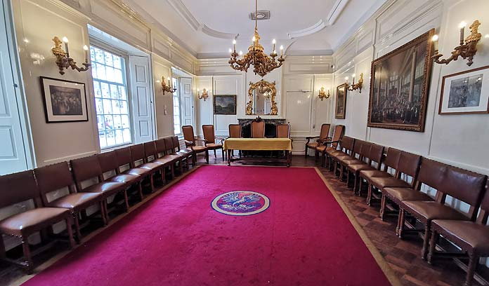portuguese synagogue amsterdam mahamad meeting room