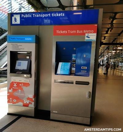 public transport ticket machine amsterdam