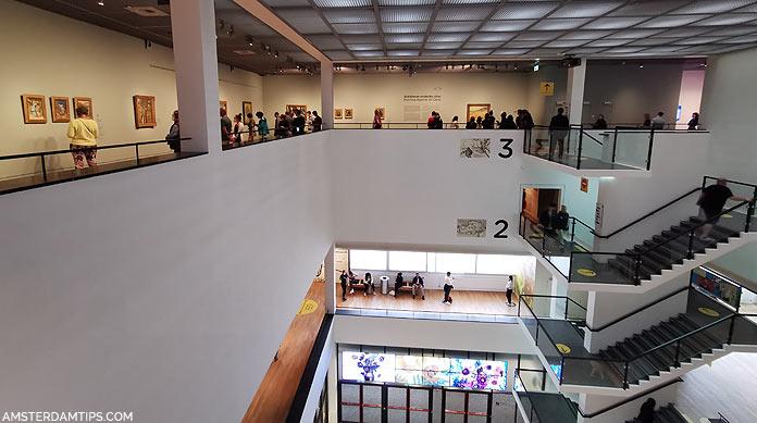 van gogh museum rietveld building levels