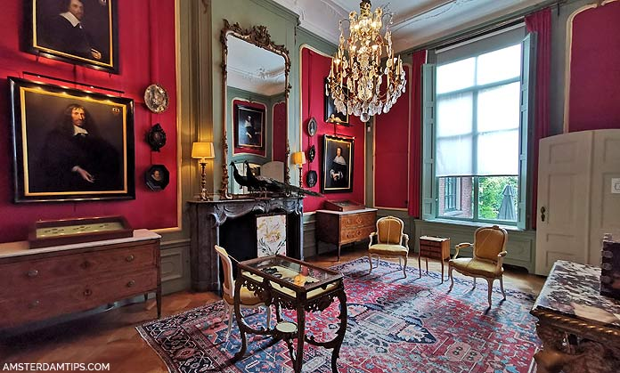 van loon house amsterdam red drawing room