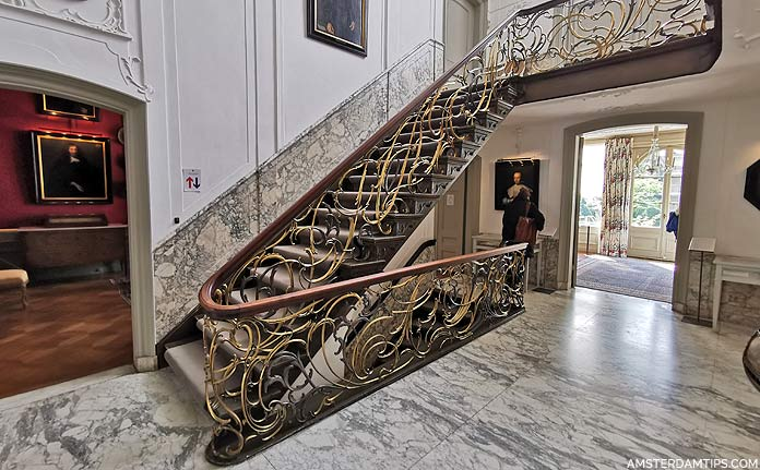 van loon museum staircase and entrance hall