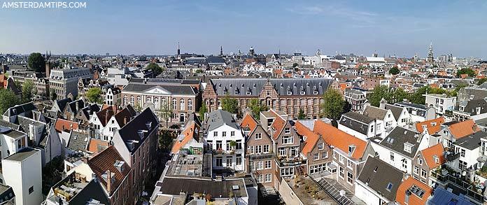 zuiderkerk tower amsterdam panorama west