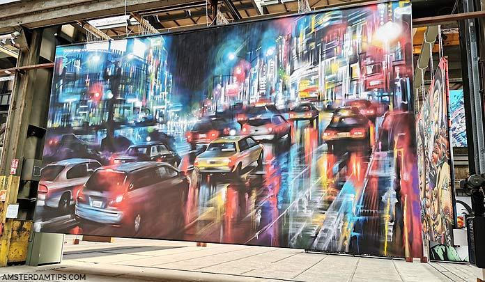straat museum artwork - tokyo scene by dan kitchener
