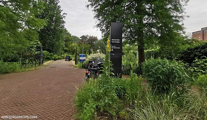 zuidas botanische tuin - entrance