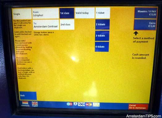 ns ticket machine screen